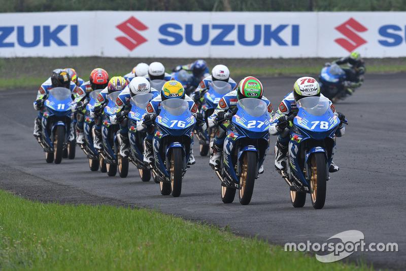 Suzuki Asian Challenge track action
