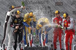 GTD podium: winners Jesse Krohn, Jens Klingmann, Turner Motorsport, second place Patrick Lindsey, Jörg Bergmeister, Park Place Motorsports, third place Andrew Davis, Lawson Aschenbach, Stevenson Motorsports