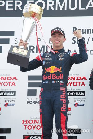 Race winner Pierre Gasly, Team Mugen