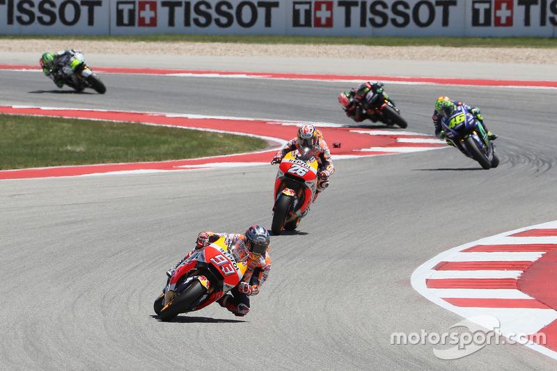 Marc Marquez, Repsol Honda Team, Dani Pedrosa, Repsol Honda Team, Valentino Rossi, Yamaha Factory Racing