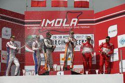 Gara 1 Podio Super GT3: Venturi-Gai, Black Bull Swisse Racing, Beretta-Frassineti, Ombra, Malacucell