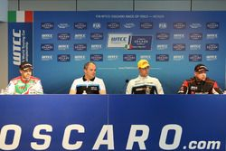 Press Conference, Tiago Monteiro, Honda Racing Team JAS, Honda Civic WTCC, Fredrik Wahlen, Team manager Polestar Cyan racing, Thed Björk, Polestar Cyan Racing, Volvo S60 Polestar TC1