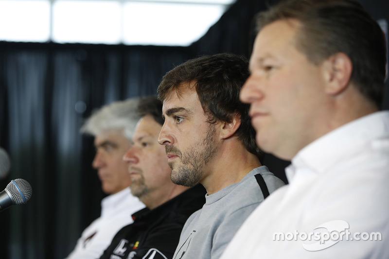 Mark Miles, Michael Andretti, Andretti Autosport, Fernando Alonso, Zak Brown
