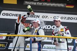 Podium: Luca Engstler, Liqui Moly Team Engstler, VW Golf GTI TCR, Pascal Eberle, Steibel Motorsport,