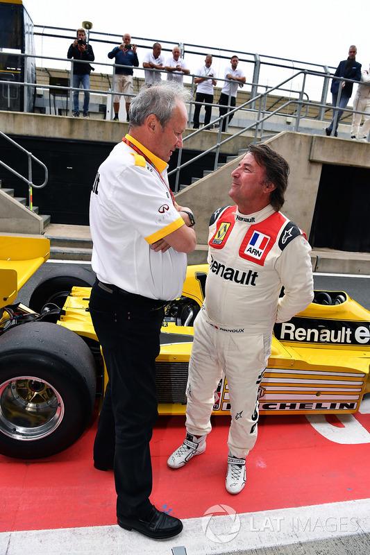 Jerome Stoll, Director de Renault Sport F1 y René Arnoux