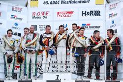 Podium: 1. #911 Manthey Racing, Porsche 911 GT3 R: Romian Dumas, Frédéric Makowiecki, Patrick Pilet;