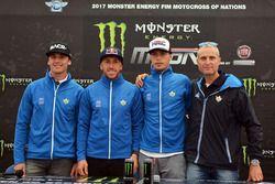 Alessandro Lupino, Antonio Cairoli y Michele Cervellin, Team Italia