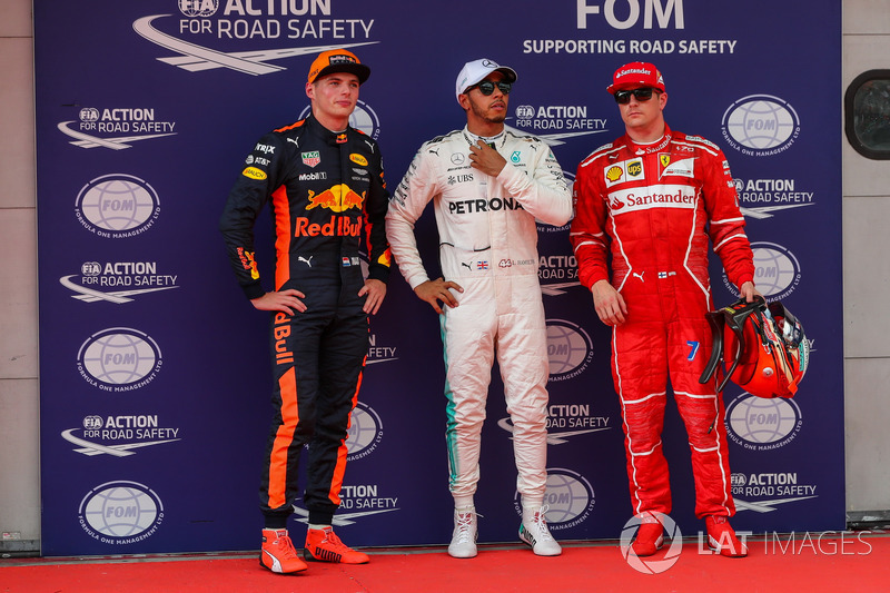 Льюіс Хемілтон, Mercedes AMG F1, Макс Ферстаппен, Red Bull Racing, Кімі Райкконен, Ferrari