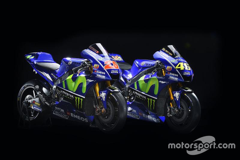 Moto de Valentino Rossi, Yamaha Factory Racing, Maverick Viñales, Yamaha Factory Racing