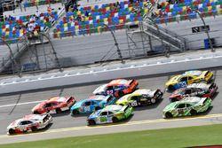 Michael Annett, JR Motorsports Chevrolet, Cole Custer, Stewart-Haas Racing Ford