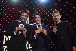 Top three in Championship: Worldchampion Marc Marquez, Repsol Honda Team, Honda; second place Valent