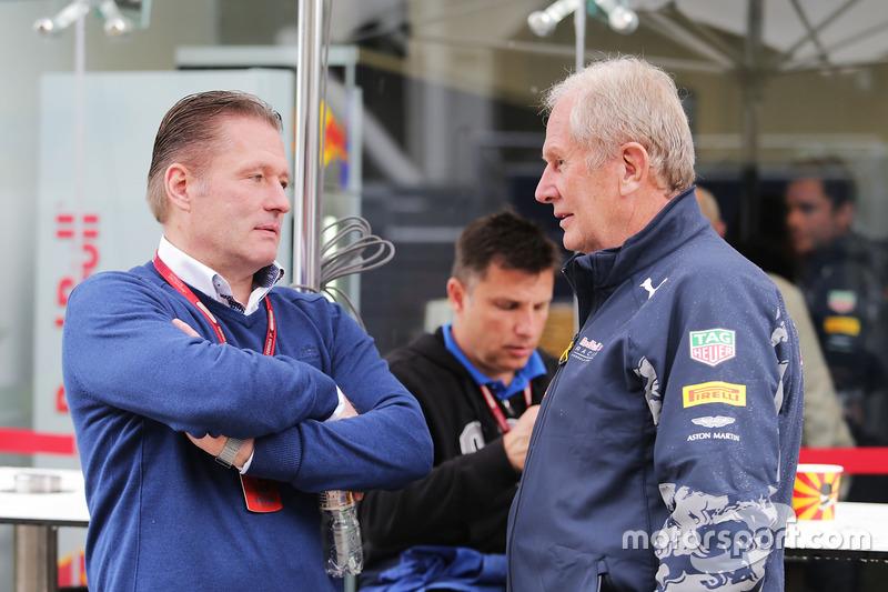 Jos Verstappen, con Dr Helmut Marko, Red Bull Motorsport