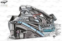 Mercedes W05 с установленным двигателем PU106
