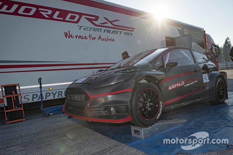 Alexander Wurz, World RX Team Austria Ford Fiesta'yı test ediyor