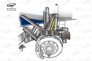 Williams FW25 2003 steering arm detail