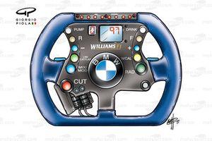 Williams FW23 2001 steering wheel