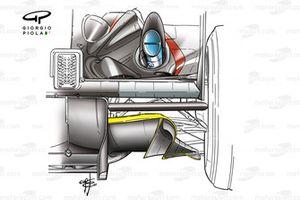 Minardi PS03 2003 diffuser