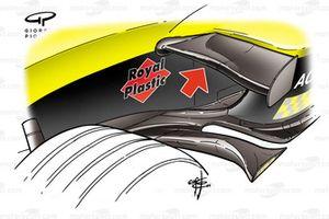 Jordan EJ14 2004 chassis fin