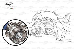 Williams FW28 rear brake duct detail