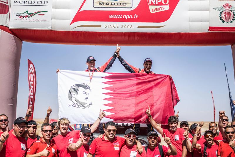 Ganadores #300 Toyota Hilux: Nasser Al-Attiyah, Matthieu Baumel