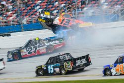 Crash: Cody Coughlin, ThorSport Racing Toyota, Chris Fontaine, Toyota, Ben Rhodes, ThorSport Racing