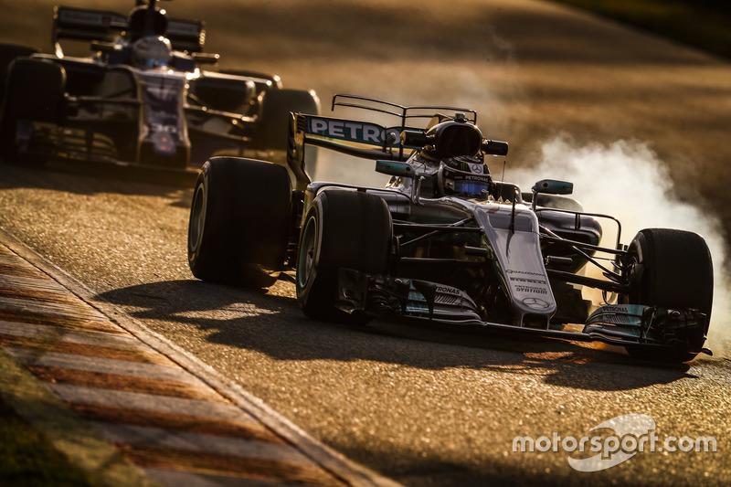Mardi : Valtteri Bottas, Mercedes, Antonio Giovinazzi, Sauber