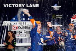 Brad Keselowski, Team Penske Ford celebrates his win