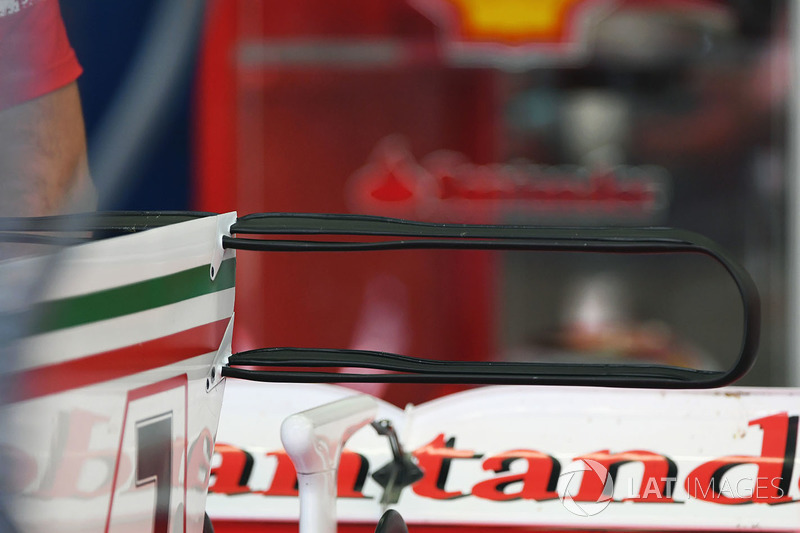Деталь антикрила Ferrari SF70H