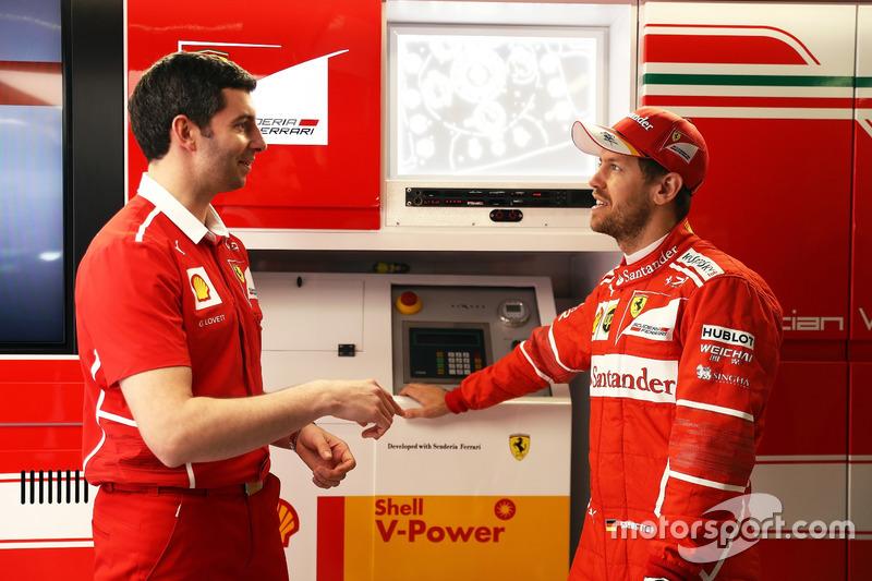 Guy Lovett e Sebastian Vettel, Ferrari