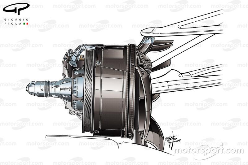 Écope de frein de la Mercedes F1 W08 au GP du Canada
