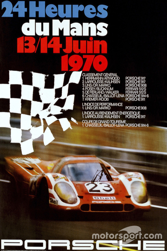Poster: Porsche-Sieg bei den 24h Le Mans 1970