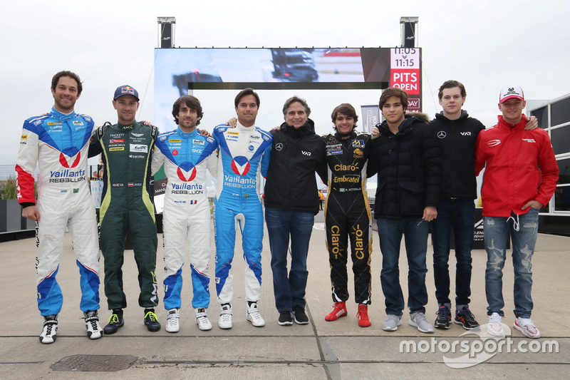 Bruno Senna, Vaillante Rebellion Racing, Mathias Lauda, Aston Martin Racing, Nicolas Prost, Nelson Piquet Jr., Vaillante Rebellion Racing, Nelson Piquet, Pietro Fittipaldi, Lotus, Pedro Piquet, Van Amersfoort Racing, Harrison Newey, Van Amersfoort Racing,