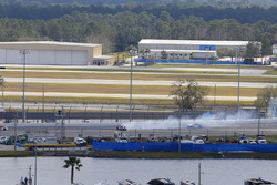 Denny Hamlin, Joe Gibbs Racing Toyota in trouble