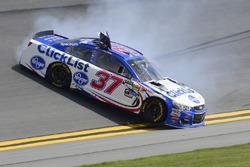 Chris Buescher, JTG Daugherty Racing Chevrolet kaza