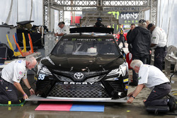 Reed Sorenson, Premium Motorsports Toyota at technical inspection