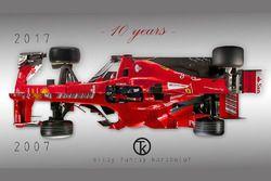 2007-2017 Ferrari F1 Araçları Karşılaştırması