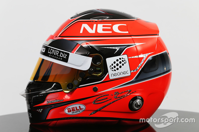 Le casque d'Esteban Ocon, Sahara Force India F1 Team