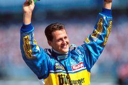 Race winner Michael Schumacher, Benetton