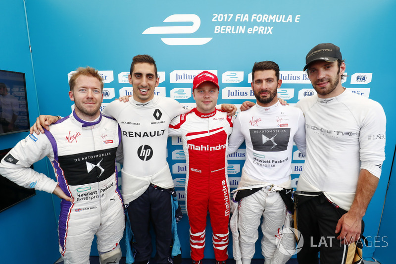 Sam Bird, DS Virgin Racing, Sébastien Buemi, Renault e.Dams, Felix Rosenqvist, Mahindra Racing,Jose