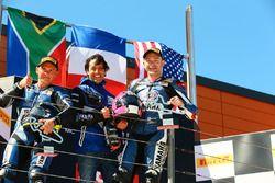 Podium: race winner Lucas Mahias, GRT Yamaha Official WorldSSP Team, second place Sheridan Morais