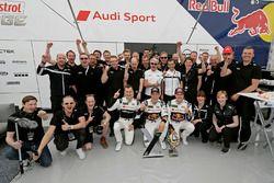 Mattias Ekström, EKS, Audi S1 EKS RX Quattro avec son équipe