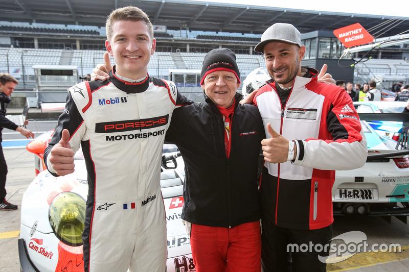 Pole Position für #12 Manthey Racing, Porsche 911 GT3 R: Otto Klohs, Mathieu Jaminet, Lars Kern
