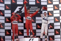Podium: Race winner Michael Schumacher, Ferrari; second place Rubens Barrichello, Ferrari; third place Ralf Schumacher, Williams