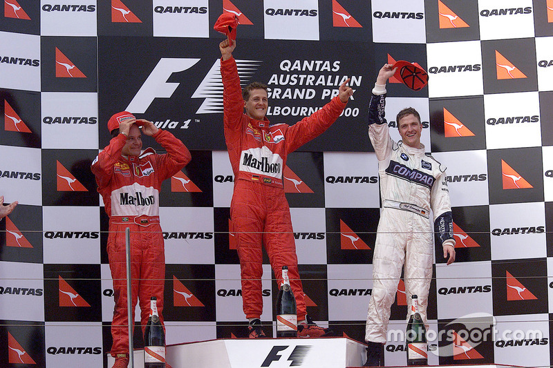 2000: 1. Михаэль Шумахер, 2. Рубенс Баррикелло, 3. Ральф Шумахер