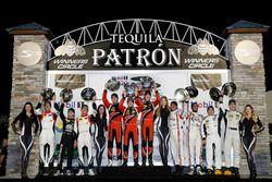 Podium PC: #8 Starworks Motorsports ORECA FLM09: James Dayson, Max Hanratty, Garett Grist, Sean Rayh