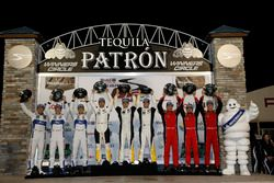 Podium GTLM: #66 Ford Performance Chip Ganassi Racing Ford GT: Joey Hand, Dirk Müller, Sébastien Bou