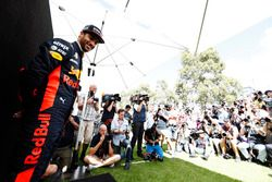 Daniel Ricciardo, Red Bull Racing, poses for photographers