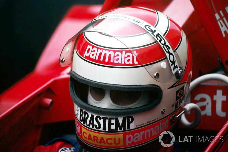 Nelson Piquet contou com o apoio de empesas como Brastemp e Caracu.