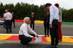 Charlie Whiting, delegado de la FIA y Laurent Mekies, Director de seguridad de la FIA en la pista