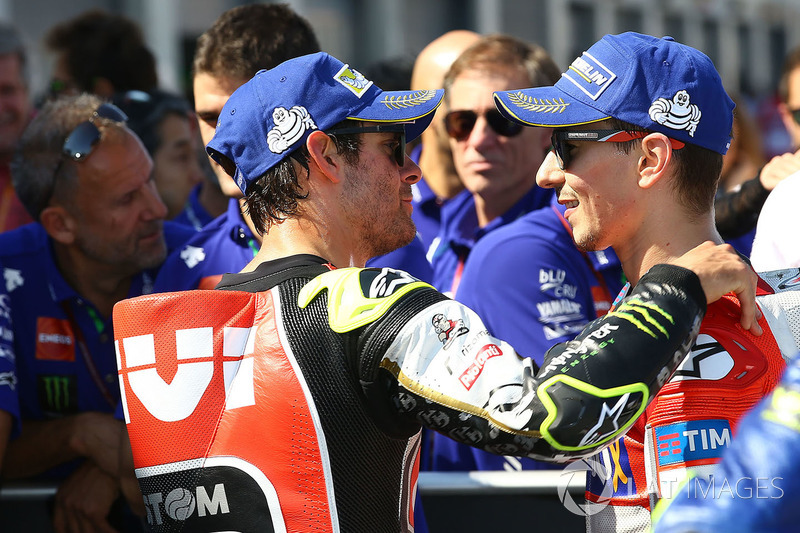 Cal Crutchlow, Team LCR Honda, second place Jorge Lorenzo, Ducati Team